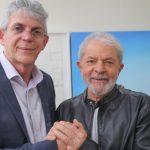 Após vídeo de apoio, Ricardo Coutinho anuncia live com o ex-presidente Lula