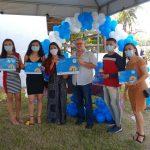 Comitiva de Bernardino Batista recebe certificado do Selo UNICEF em João Pessoa