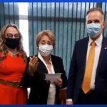 Em Brasília: Leninha tem encontro com o deputado Aguinaldo Ribeiro