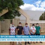 Em pleno  domingo, Itamar Moreira, prefeito eleito de Poço Dantas visita prédios públicos  e traças as primeiras metas da gestão