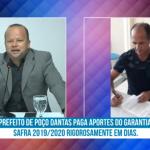 PREFEITO DE POÇO DANTAS PAGA APORTES DO GARANTIA SAFRA 2019/2020 RIGOROSAMENTE EM DIAS. VEJA VÍDEO