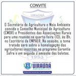 Secretário de agricultura e meio ambiente de Uiraúna emite convite para uma reunião nessa quarta-feira (13)