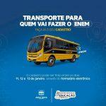 Prefeitura de Água Nova disponibiliza transporte para estudantes que irão fazer a prova do Enem