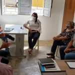 Prefeito Aldo Andrade participa de reunião na secretaria de agricultura do município de Bernardino Batista