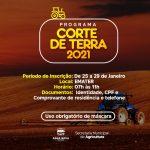PREFEITURA MUNICIPAL DE ÁGUA NOVA INICIA INSCRIÇÕES PARA O PROGRAMA CORTE DE TERRA 2021