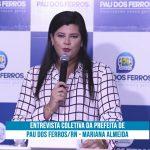 PAU DOS FERROS – RN : PREFEITA MARIANNA ALMEIDA REÚNE IMPRENSA EM ENTREVISTA COLETIVA