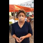 Prefeita de Uiraúna leninha Romão amanheceu o dia na feira livre. Veja vídeo