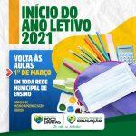 Volta as aulas: Prefeitura de Poço Dantas já tem data marcada para o inicio do ano letivo  2021