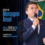 Prefeito Ronaldo Souza fará leitura da mensagem anual do executivo nesta terça-feira (23).