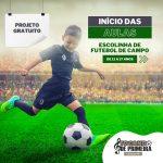 Aulas da Escolinha de futebol do Projeto Tocando de Primeira irão ter início no dia 08 de março