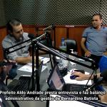 Prefeito Aldo Andrade presta entrevista e faz balanço administrativo da gestão de Bernardino Batista. Veja vídeo