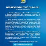Prefeitura Municipal de Pau do Ferros publica novo Decreto estabelecendo medidas e restrições para enfrentamento da COVID-19