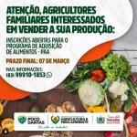 Prefeitura Municipal de Poço Dantas/PB,  abre inscrições para a participação do Programa de Aquisição de Alimentos 2021