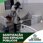 Prefeitura de Luís Gomes realiza processo de Sanitização de espaços públicos