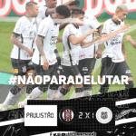 De virada e com muita chuva, Corinthians vence Ponte Preta conseguindo a primeira vitória no campeonato paulista