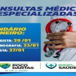 Prefeito Itamar anuncia realização de consultas médicas especializadas para Poço Dantas