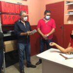 Prefeito Itamar Moreira recebe visita do prefeito de Joca Claudino