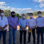 Prefeito Itamar Moreira recebe visita dos Deputados Wilson Santiago, Wilson Filho e do Secretário de Educação do Estado Cláudio Furtado