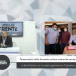 VEJA VÍDEO: Governador João Azevedo assina ordem de serviço e de licitação ao cumprir agenda em Cajazeiras.