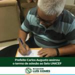 Município de Luís Gomes/RN assina termo de adesão a mais uma edição do selo Unicef  – VEJA VÍDEO