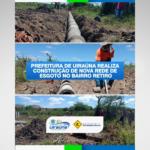 Prefeitura de Uiraúna realiza construção de nova rede de esgoto no Bairro Retiro – VEJA VÍDEO