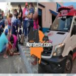 VEJA VÍDEO: Colisão entre carro e moto no centro de Uiraúna deixa jovem ferida na manhã desta quinta-feira (29).