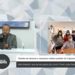 VEJA VÍDEO : Prefeita de Uiraúna e vereadora visitam prefeito de cajazeiras José Aldemir, que se recupera da covid-19 em João Pessoal